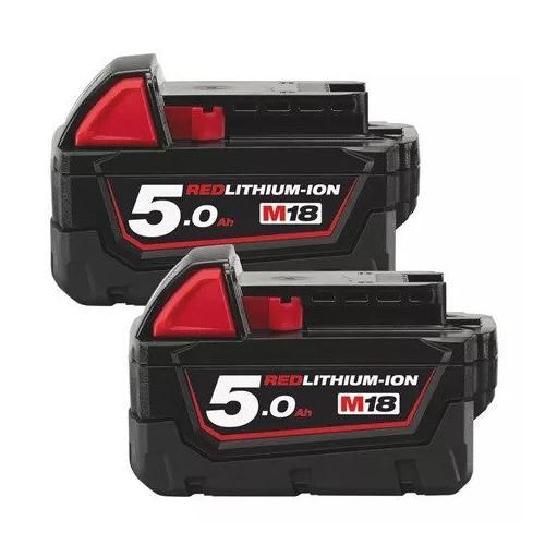 M18 B52 - A set of two batteries M18™, Li-ion 18 V, 5.0 Ah