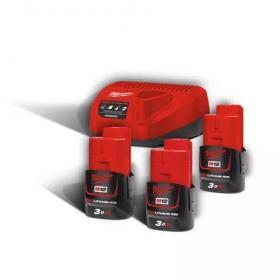 M12 NRG-303 - A set of 3 batteries M12™, Li-ion 12 V + charger