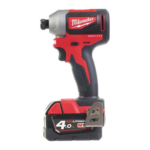 "M18 CBLID-402C - Compact brushless 1/4"" HEX impact driver 18 V, 4.0 Ah, in case, with 2 batteries and charger"