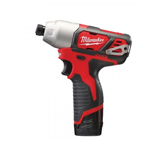 M12 BID-202C - Sub compact 1/4″ HEX impact driver 12 V, 2.0 Ah, FUEL™, in case, with 2 batteries and charger
