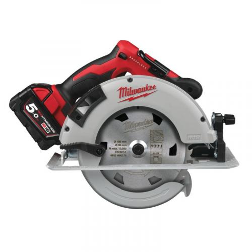 M18 BLCS66-502X - Brushless circular saw for wood and plastics 66 mm, 18 V, with 2 batteries and charger