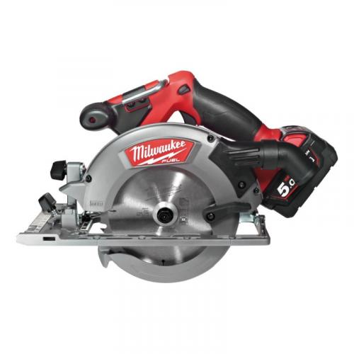 M18 CCS55-502X - Circular saw for wood and plastics 55 mm, 18 V, FUEL™, with 2 batteries and charger