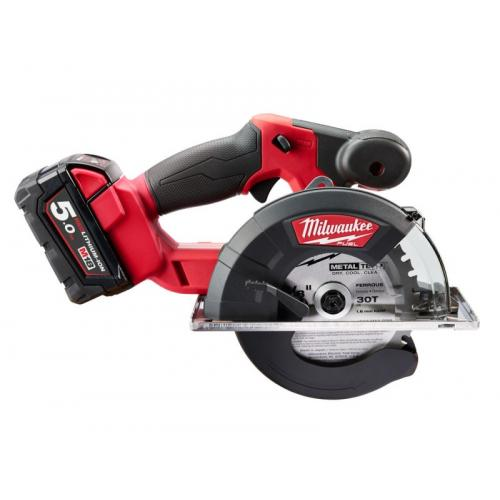 M18 FMCS-502X - Metal saw 57 mm, 18 V, 5.0 Ah, FUEL™, with 2 batteries and charger