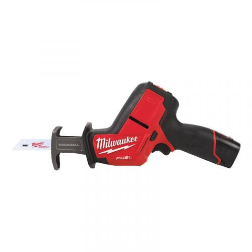 M12 CHZ-202X - Sub compact reciprocating saw 12 V, 2.0 Ah, HACKZALL™, FUEL™, in case with 2 batteries and charger
