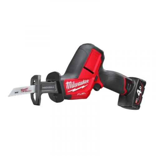 M12 CHZ-402C - Sub compact reciprocating saw 12 V, 4.0 Ah, HACKZALL™, FUEL™, in case with 2 batteries and charger