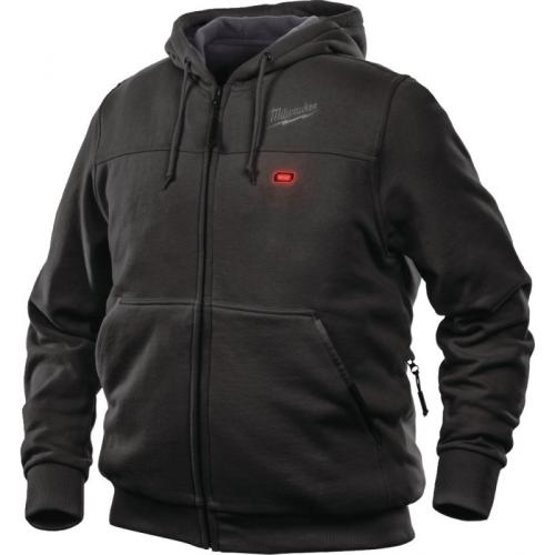 M12 HH BL3-0 (2XL) - M12™ Black heated hoodie for men, size 2XL