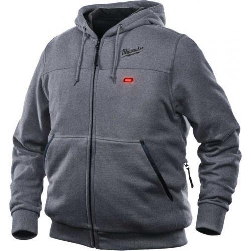 M12 HH GREY3-0 (XL) - M12™ Grey heated hoodie for men, size XL