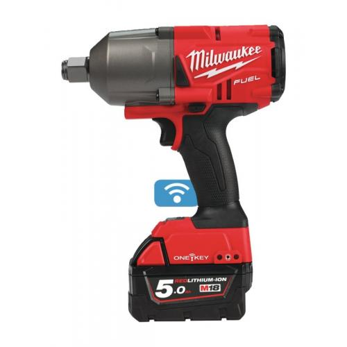 "M18 ONEFHIWF34-502X - 3/4"" Impact wrench, 1627 Nm, 18 V, 5.0 Ah, ONE-KEY™, in case, with 2 batteries and charger"