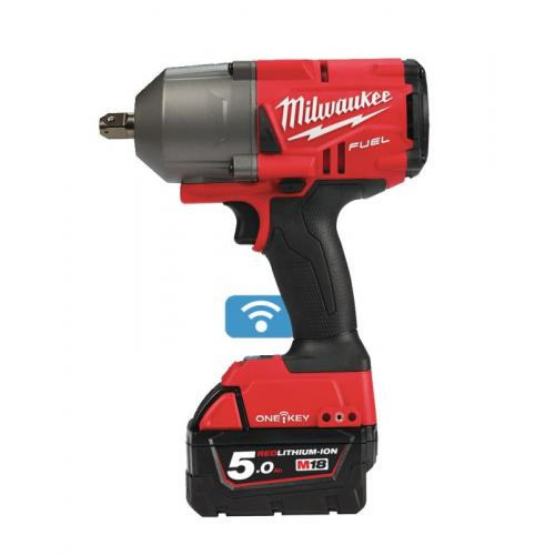 "M18 ONEFHIWP12-502X - 1/2"" Impact wrench, 1017 Nm, 18 V, 5.0 Ah, ONE-KEY™, in case, with 2 batteries and charger"