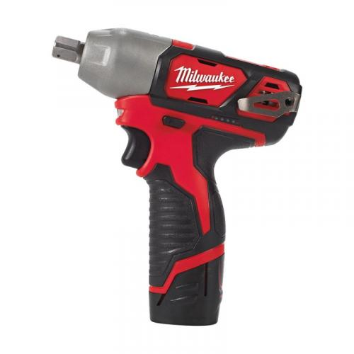 "M12 BIW12-202C - Sub compact 1/2"" impact wrench, 138 Nm, 12 V, in case, with 2 batteries and charger"