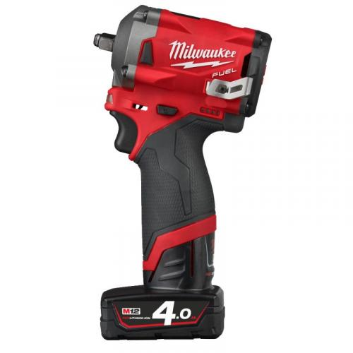 "M12 FIW38-422X - Sub compact 1/2"" impact wrench, 339 Nm, 12 V, 2.0 and 4.0 Ah, in case, with 2 batteries and charger"
