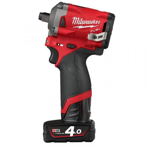 "M12 FIWF12-422X - Sub compact 1/2"" impact wrench, 339 Nm, 12 V, 2.0 and 4.0 Ah, in case, with 2 batteries and charger"