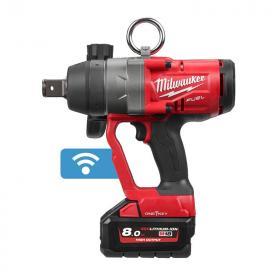 """M18 ONEFHIWF1-802X - Klucz udarowy 1"""", 18 V, 8.0 Ah, ONE-KEY™, w walizce, z 2 akumulatorami i ładowarką"""