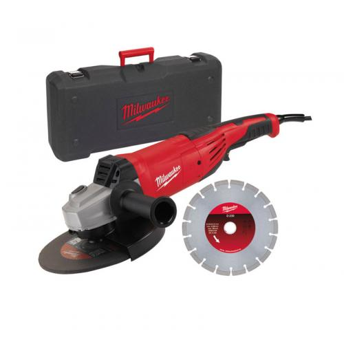 AG 22-230 E - Angle grinder 230 mm, 2200 W, paddle switch, in case