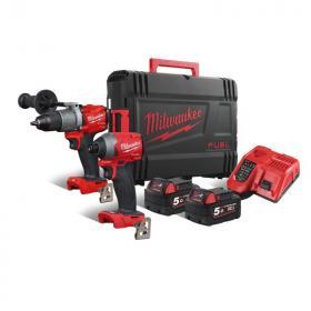 M18 FPP2A2-502X - Zestaw POWERPACK M18™ FUEL™, M18 FPD2, M18 FID2, 2 x 5.0 Ah + ładowarka, w walizce
