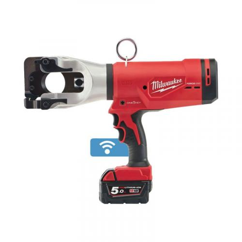 M18 HCC45-522C - Hydraulic cable cutter 18 V, 2.0 and 5.0 Ah, 44 mm, in case, with 2 batteries and charger