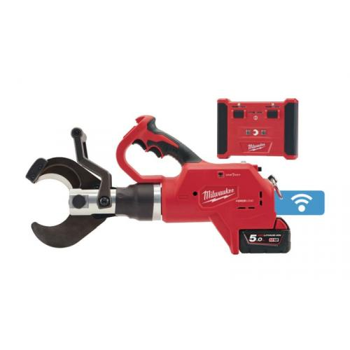 M18 HCC75R-502C - Hydraulic remote underground cable cutter 18 V, 5.0 Ah, 75 mm, in case with 2 batteries and charger