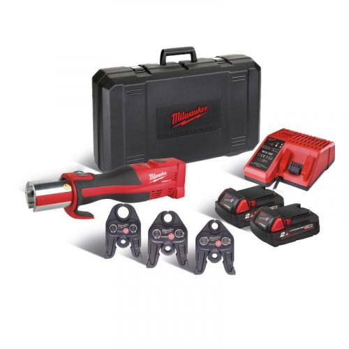 M18 BLHPT-202C TH-SET - Brushless press tool 18 V, 2.0 Ah, FORCE LOGIC™, in case with 2 batteries and charger