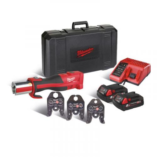 M18 BLHPT-202C V-SET - Brushless press tool 18 V, 2.0 Ah, FORCE LOGIC™, in case with 2 batteries and charger