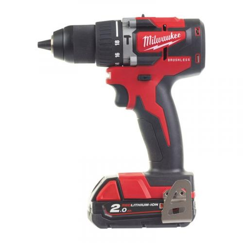 M18 CBLPD-203X - Compact brushless percussion drill 18 V, 2.0 Ah, in case, with 3 batteries and charger