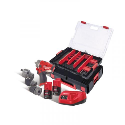 M12 FPDXKIT-202XA - POWERPACK M12™, M12 FPDXKIT, accessories, 2 x 2.0 Ah + charger, in case