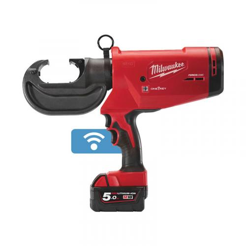 M18 HCCT109/42-522C - Hydraulic cable crimper 18 V, 2.0 and 5.0 Ah, ONE-KEY™, in case, with 2 batteries and charger