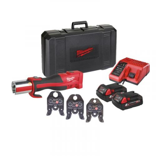 M18 BLHPT-202 M-SET - Brushless press tool 18 V, 2.0 Ah, FORCE LOGIC™, in case with 2 batteries and charger