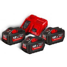M18 HNRG-123 - Zestaw 3 akumulatorów M18™, Li-ion 18 V + szybka ładowarka