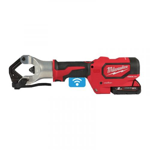 M18 HDCT-202C - Hydraulic cable crimper 18 V, 2.0 Ah, FORCE LOGIC™, ONE-KEY™, in case, with 2 batteries and charger