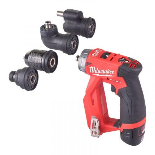 M12 FDDXKIT-202X - Sub compact drill/driver with removable chucks 12 V, 2.0 Ah, FUEL™, in case, with 2 batteries and charger