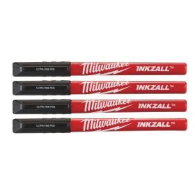 48223164 - Inkzall Fine Tip Black Pens - 4 pcs