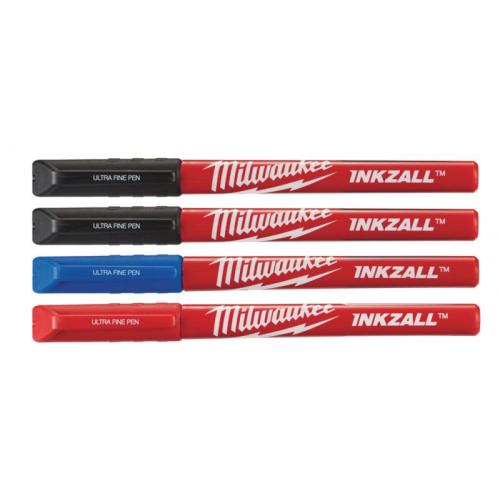 48223165 - Inkzall Fine Tip Colour Pens - 4 pcs