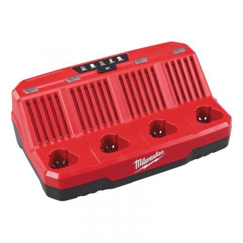 M12 C4 - 4 Bay charger M12™, 12 V, 2.0, 4.0 & 6.0 Ah