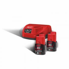 M12 NRG-202 - A set of 2 batteries M12™, Li-ion 12 V + charger