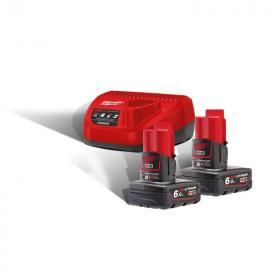 M12 NRG-602 - A set of 2 batteries M12™, Li-ion 12 V + charger