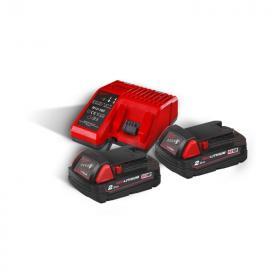 M18 NRG-202 - A set of 2 batteries M18™, Li-ion 18 V + fast charger