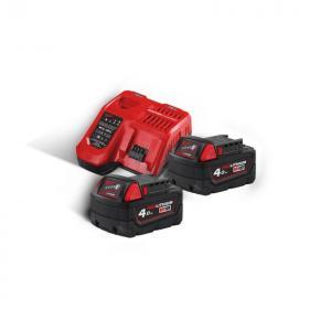 M18 NRG-402 - A set of 2 batteries M18™, Li-ion 18 V + fast charger