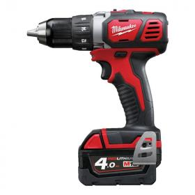M18 BDD-402C - Compact drill drivers 18 V, 4.0 Ah, in HD Box, with 2 batteries and charger