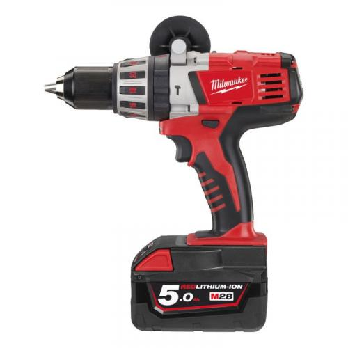 HD28 PD-502C - Percussion drill 28 V, 5.0 Ah, HEAVY DUTY, in HD Box, with 2 batteries and charger