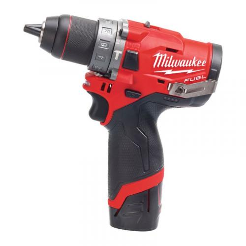 M12 FPD-202X - Sub compact 2-speed percussion drill 12 V, 2.0 Ah, in case, with 2 batteries and charger