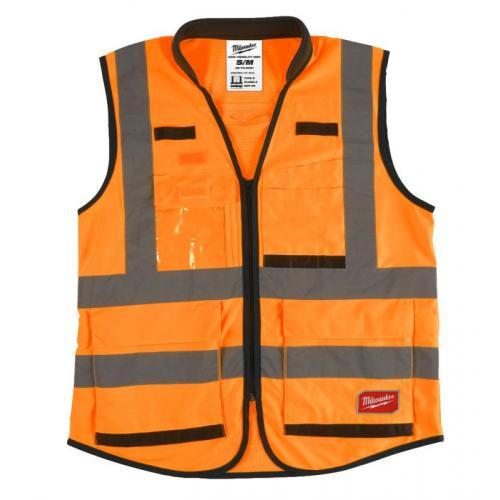 4932471898 - Kamizelka odblaskowa PREMIUM pomarańczowa, rozmiar S/M