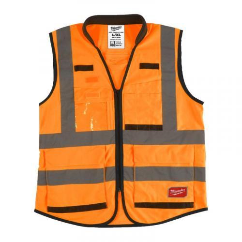 4932471899 - Kamizelka odblaskowa PREMIUM pomarańczowa, rozmiar L/XL