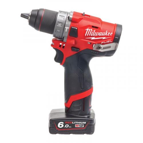 M12 FPD-602X - Sub compact 2-speed percussion drill 12 V, 6.0 Ah, in case, with 2 batteries and charger
