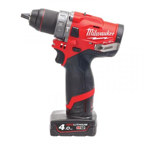 M12 FPD-402X - Sub compact 2-speed percussion drill 12 V, 4.0 Ah, in case, with 2 batteries and charger