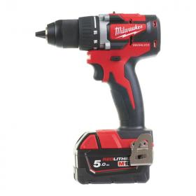 M18 CBLDD-502C - Compact brushless drill drivers 18 V, 5.0 Ah, in HD Box, with 2 batteries and charger