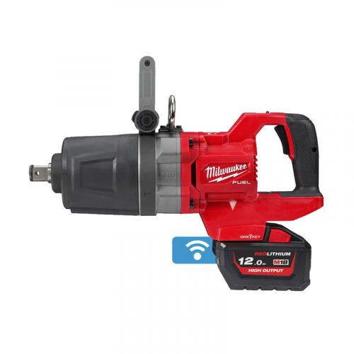 "M18 ONEFHIWF1DS-121C - 1"" Impact wrench, 2576 Nm, 18 V, 12.0 Ah, ONE-KEY™, in case, with battery and charger"