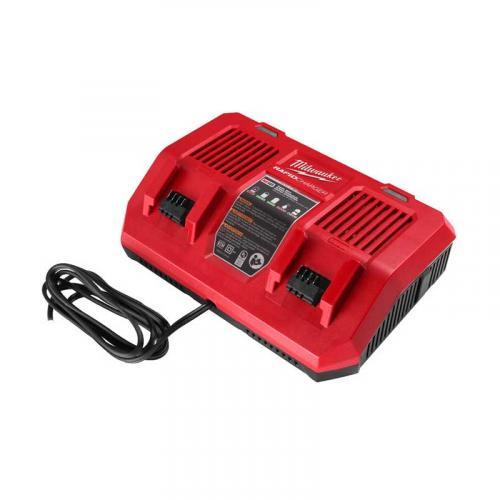 M18 DFC - Dual bay rapid charger M18™, 18 V, 2.0, 4.0, 5.0, 6.0, 9.0, 3.0, 5.5, 8.0 & 12.0 Ah