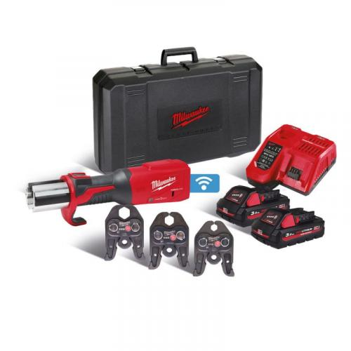 M18 ONEBLHPT-302C V-SET - Brushless press tool with ONE-KEY™, FORCE LOGIC™, in case with 2 baterries and charger