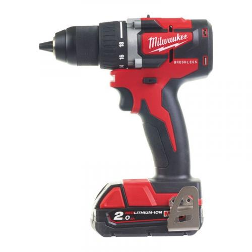 M18 CBLDD-203X Drill driver 18 V, 2.0 Ah, in case, with 3 batteries and charger