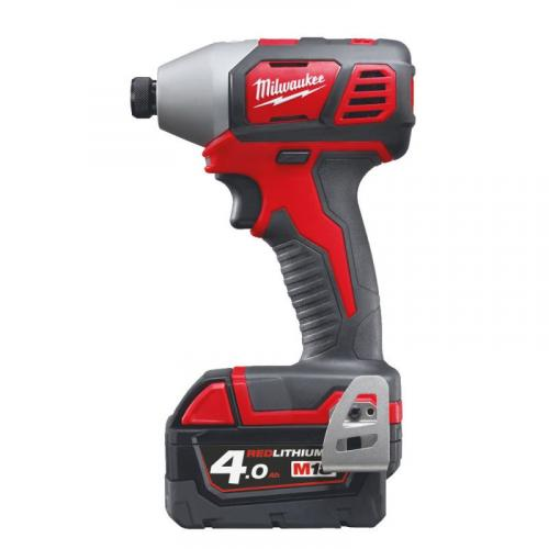 """M18 BID-402C - Compact 1/4"""" HEX impact driver 18 V, 4.0 Ah, in case, with 2 batteries and charger"""